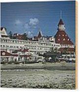 Coronado Hotel Wood Print
