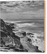Coronado Islands From Cabrillo Wood Print