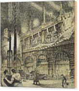 Coronation Evening London 1937 Wood Print