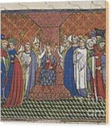 Coronation Of Charles Vi Wood Print
