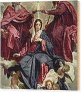 Coronation Of The Virgin Wood Print