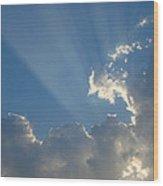 Corpuscular Rays Wood Print