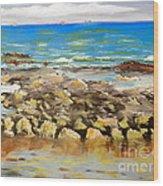 Corrimal Beach Near Towradgi Rook Pool Wood Print