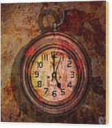 Corroded Time Wood Print