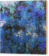 Corrosion Bleue Wood Print