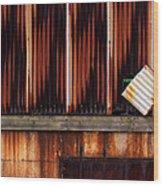 Corrugated Steel Mill Wall Alton Il Wood Print
