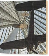 Corsairs In The National Marine Corps Museum In Triangle Virginia Wood Print