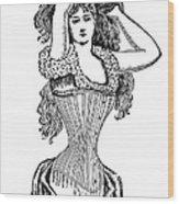 Corset Advertisement  1897 Wood Print