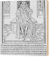 Cortes Letter, 1522 Wood Print