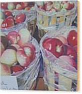 Cortland Apples Wood Print