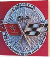 Corvette 25th Anniversary Emblem 1 Wood Print