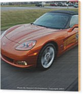 Corvette At Speed . . . . .  Wood Print