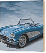 Corvette Blues Wood Print