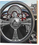 Corvette C1 - In The Driver's Seat Wood Print