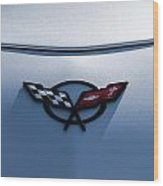 Corvette C5 Badge Wood Print