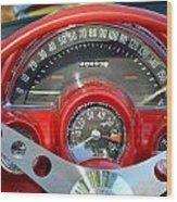 Corvette Dashboard Wood Print