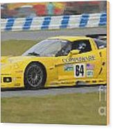 Corvette Gt1 C6 Race Car Wood Print