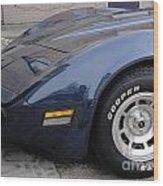 Corvette Wood Print by Jackie Bodnar