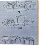 Corvette Patent Wood Print