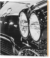 Corvette Picture - Black And White C1 First Generation Wood Print