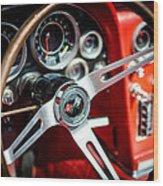 Corvette Steering Wheel Wood Print