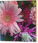 Cosmic Bouquet Wood Print