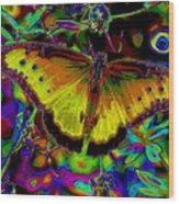 Cosmic Butterfly Wood Print by Rebecca Flaig