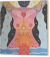 Cosmic Carnival I V Aka Creation Wood Print