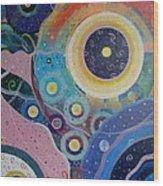 Cosmic Carnival Vl Aka Circles Wood Print