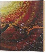Cosmic Contact Wood Print