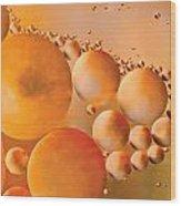 Cosmic Copper Wood Print