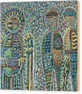 Cosmic Creation Of Adam And Eve Wood Print