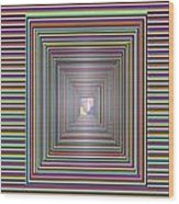 Cosmic Energy Tunnel Infinity Healing Art Background Designs  And Color Tones N Color Shades Availab Wood Print