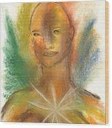 Cosmic Feminine Wood Print