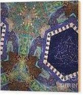Cosmic Flight Of Dragon Wood Print