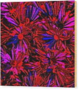 Cosmic Flower Wall Wood Print