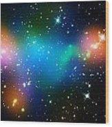 Cosmic Glow Wood Print