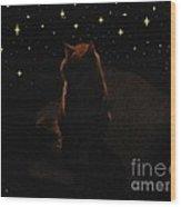 Cosmic Kitty Wood Print