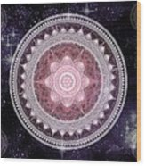 Cosmic Medallions Fire Wood Print