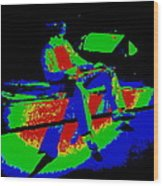 Cosmic Motor Scooter In Spokane 1977 Wood Print