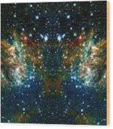Cosmic Phoenix  Wood Print