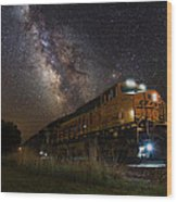 Cosmic Railroad Wood Print