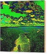 Cosmic River 2 Wood Print