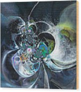 Cosmic Spider Wood Print