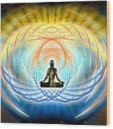 Cosmic Spiral Ascension 04 Wood Print