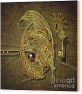 Cosmic Time Egg Wood Print