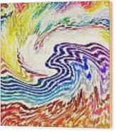 Cosmic Waves Wood Print