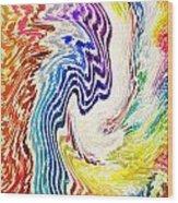 Cosmic Waves Vertical Wood Print