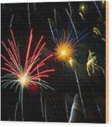 Cosmos Fireworks Wood Print
