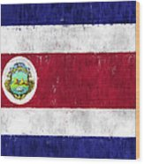 Costa Rica Flag Wood Print